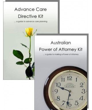 The Australian Will Kit and Power of Attorney Combination Pack - for two people